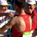 20 km men - The huge of gold and silver with their coach