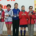 Podium of 6 hours Women