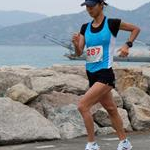 Women 20km: Liu Hong during the race