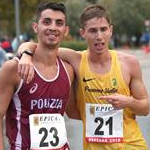 10km men: Gianluca Picchiottino and Massimo Stano celebrates silver and gold