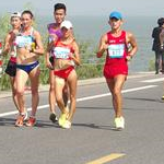Qionglong - 3nd stage: Lyudmila Olianovska and Qieyang Shenjie walking in the middle of the men