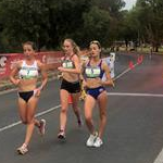 Women 20km - Leading pack at 8km