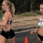 Women 20km - Leading pack at 10km