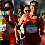 20 km men - Leading pack (by Getty Images)