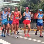 Men 50km - The leading group