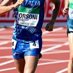 Men U20 10km: Riccardo Orsoni during the race.