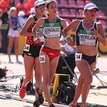 Women U20 10km: a phase of the race