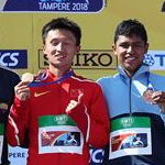 Men U20 10km: race podium