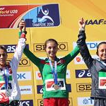Woman U20 10km: race podium