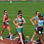Men U20 10km: a phase of the race