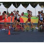 20 km men - Second group at 6th lap (by Jeff Salvage - USA)