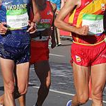 20 km men - Lopez, Dmytrenko and Fujisawa (by Jeff Salvage - USA)