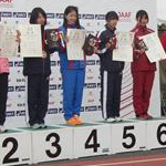 Women 20 km - Award ceremony first 8 athletes