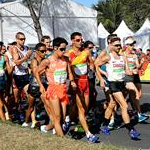 20 km men - The pack at 2nd lap (by Jeff Salvage - USA)