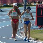 2nd stage - 5.000m track walk girls: second and third