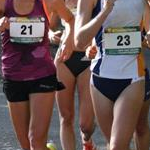 20km women - Alana Barber (#21) and Regan Lamble (#23)