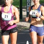 20km women - Alana Barber (#21) and Jemima Montag (#24)