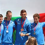Men - 50 km - Italian team on the podium (by Philipp Pohle . GER)