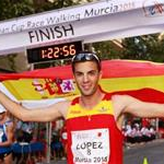 Men - 20 km - Miguel Angel Lopez (ESP) after the victory