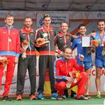 Men - 20 km - Team award on the podium (by Philipp Pohle - GER)