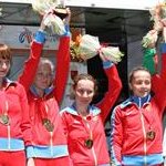 Women - 20 km - Russian team on the podium (by Philipp Pohle - GER)