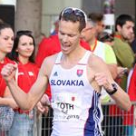 Men - 20 km - Matej Toth celebrates second place (by Philipp Pohle - GER)