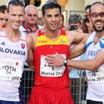 Men - 20 km - First three celebrates medals (by Philipp Pohle - GER)