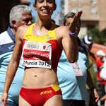 Women - 20 km - Laura Garcia-Caro celebrates the good result  (by Philipp Pohle - GER)