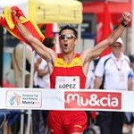 Men - 20 km - Miguel Angel Lopez victory (by Philipp Pohle - GER)