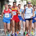 Men - 20 km - The pack chasing Yohann Diniz (by Philipp Pohle - GER)