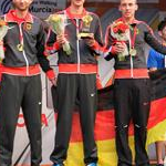Men - 20 km - Germany team winner on the podium (by Philipp Pohle - GER)