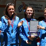 Women - 20 km - Italian team on the podium (by Philipp Pohle - GER)