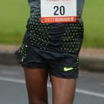 Men - Lebogang Shange during the race