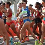 20 km women - The pack shortly after the start (by Giancarlo Colombo per Fidal)