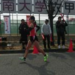 Women 20 Km - Again Okada during the race