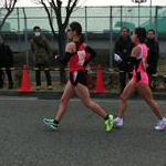 Women 20 Km - Okada (104) followed by Inoue (101) during the race