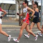 Men 20 km - Kay Kobayashi in front of the leading group