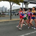 Women 5 km Junior - In the leading Minemura (401-1st), Wada (417-4th), Sakurai (411-2nd), Yagi (415-3rd)