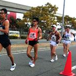 Men 20 km - Arai (6) followed by Maruo (18) and Kobayashi (8)