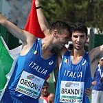 Men - Orsoni and Brandi celebrate after the race