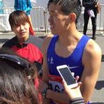 Men - 50 km - Yu Wei interview after the arrival